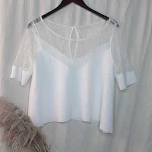 ZARA Lace Cropped Blouse